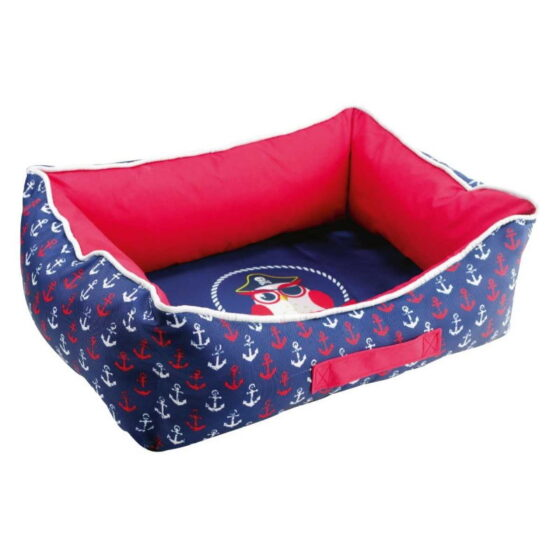 RECT.PET BED PIRATE OWL 60x45x18cm