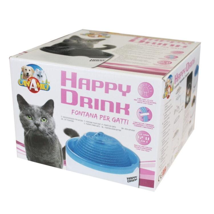 HAPPY DRINK BLUE CAT FOUNTAIN