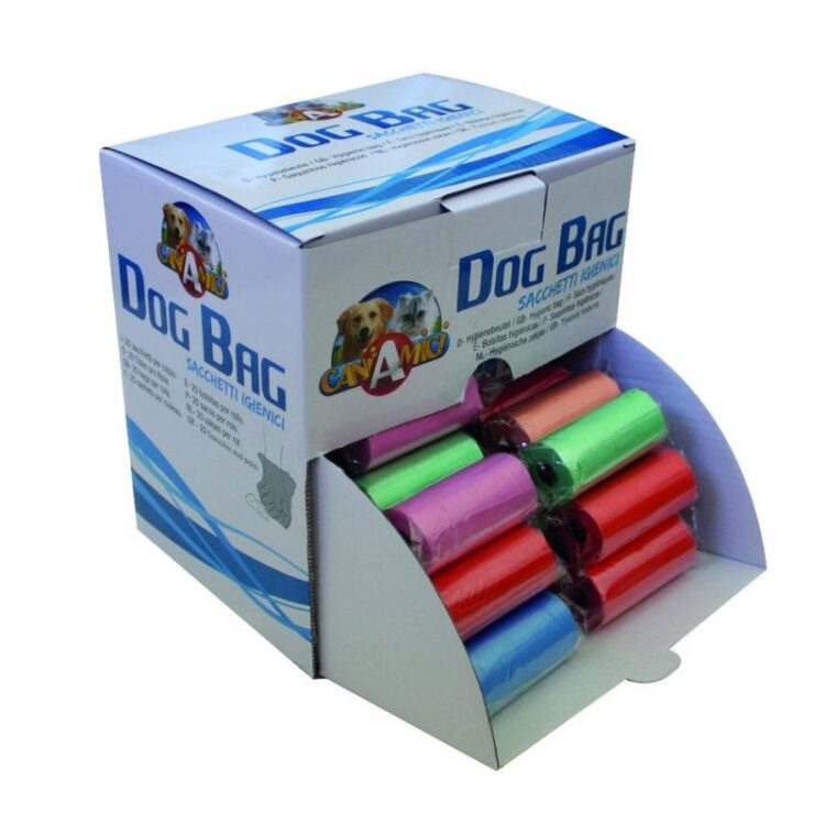 DOG WASTE BAGS MIX COL.IN DISPLAY