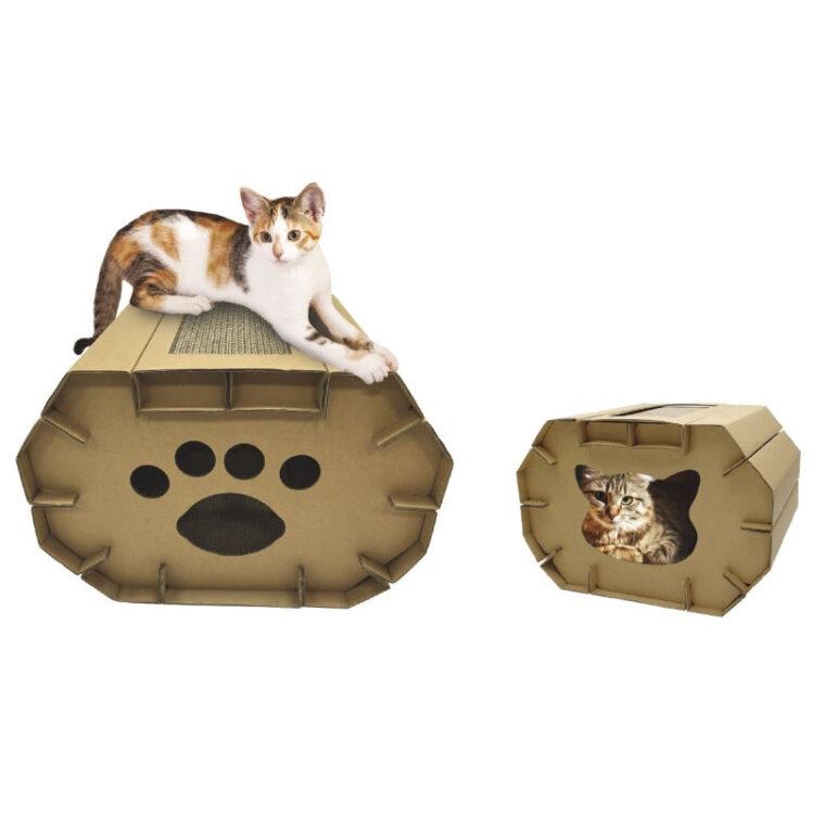 CARDBOARD CAT SCRAPER HOUSE 50x38x35cm