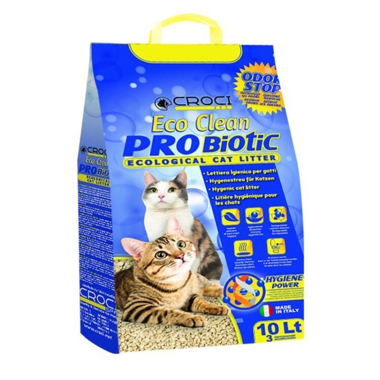CAT LITTER ECO CLEAN PROBIOTIC 10L 3,8KG