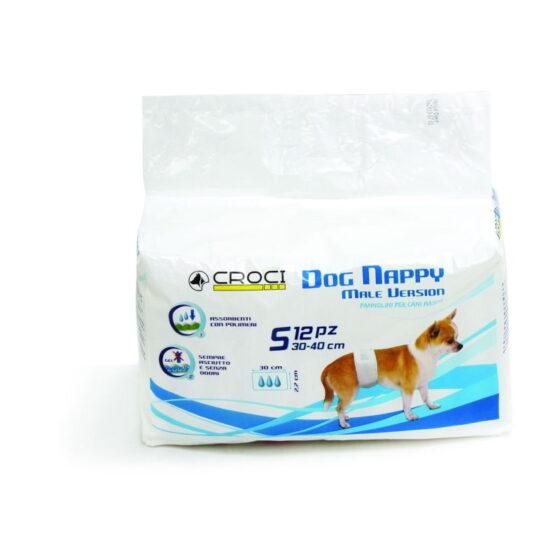 DOG NAPPY MALE WRAP SM PCS.12 (30-40CM)