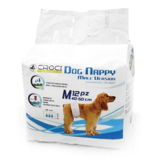 DOG NAPPY MALE WRAP MD PCS.12 (40-50CM)