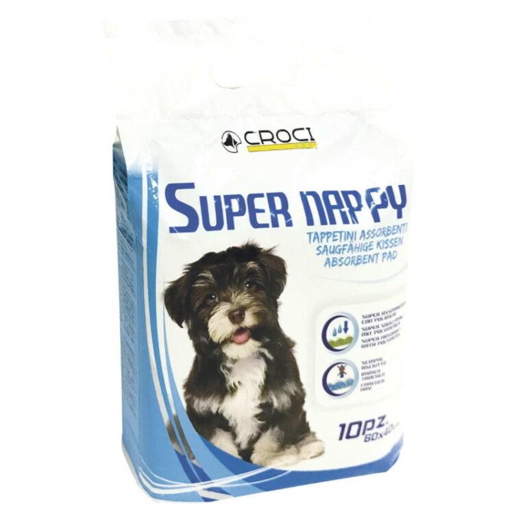 DOG ABSORBENT SUPER NAPPY 60X60 10pcs
