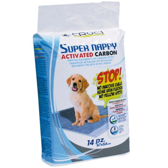DOG ABSOR.SUPER NAPPY ACT.CARBON84x57 30PC