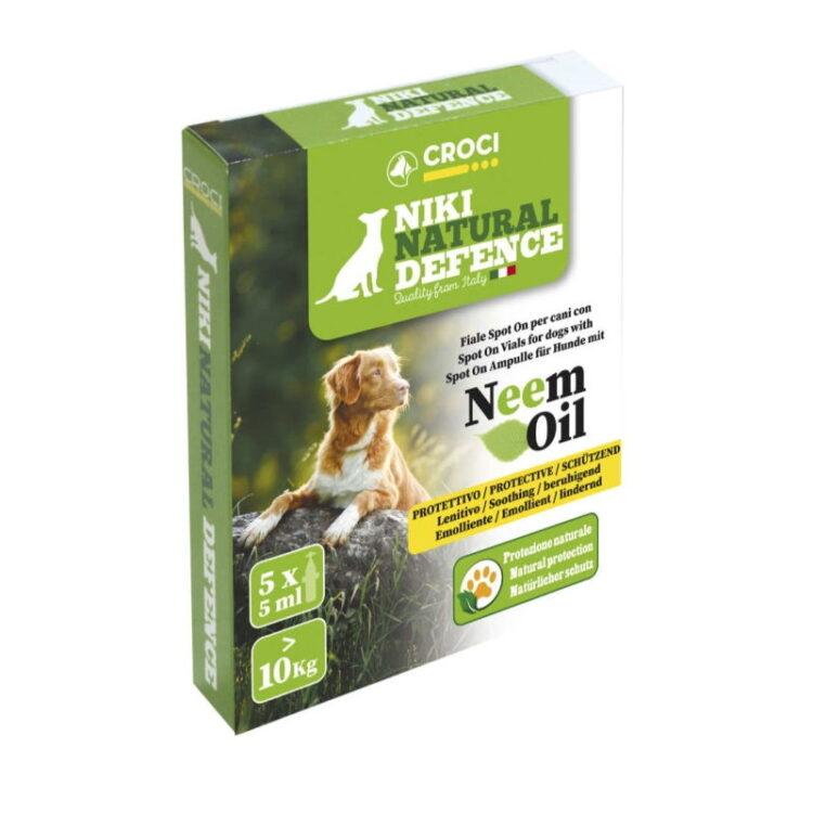 NIKI NATURAL DEFENCE SPOT-ON DOG >10Kg NEEM 5x5ml