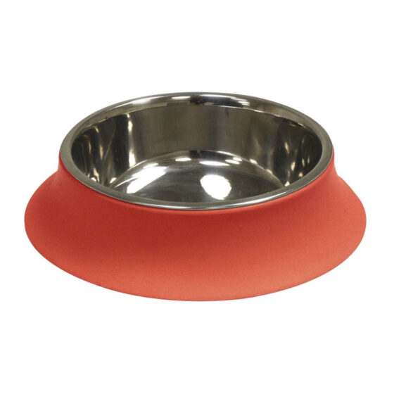 STEEL BOWL SILICONE RED 520ml/14cm