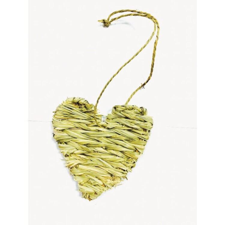 STRAW HEART 13X13X30cm