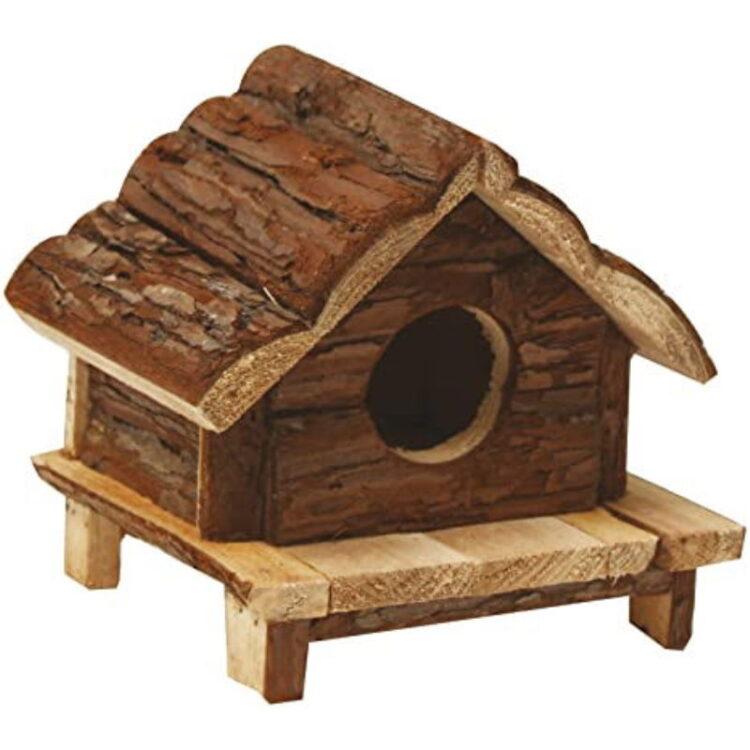 WOOD HOUSE LOVE HUT 12X12X12 cm