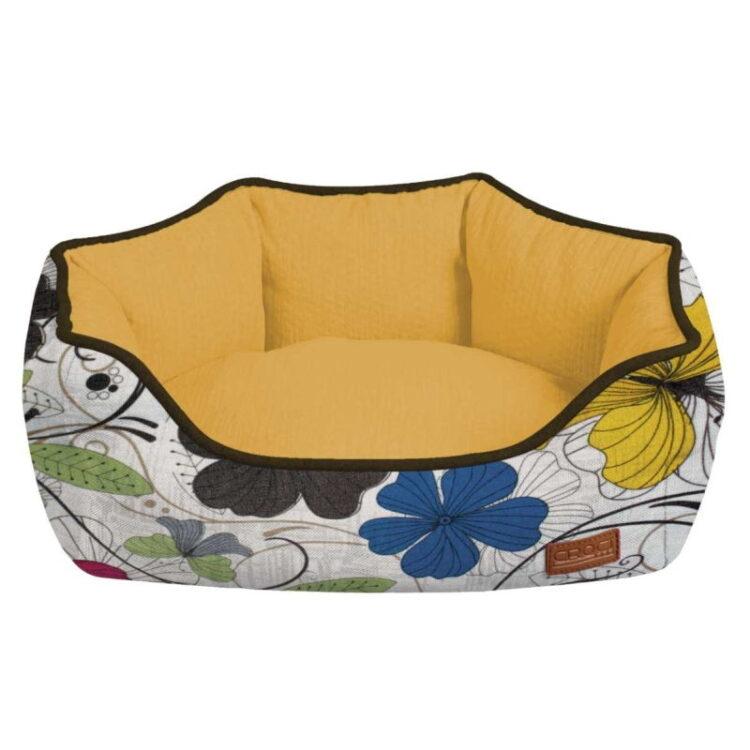 OVAL PET BED COZY FLO 60x50x20 cm