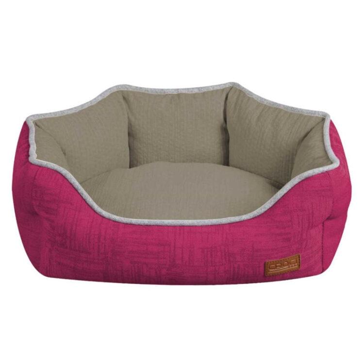 OVAL PET BED COZY FUXIA 75x60x20 cm
