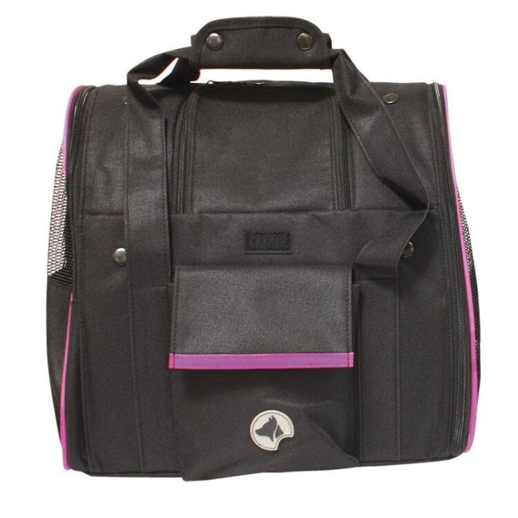 BACKPACK-CAR BAG SCARLETT PINK BLACK 38x26x31cm