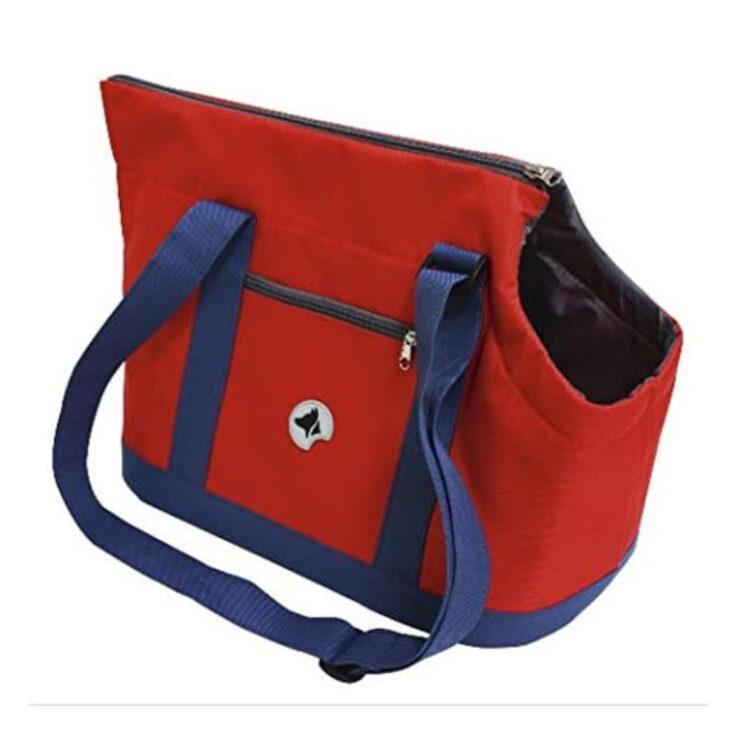 BAG GISELLE BLUE/RED 49X23X31cm