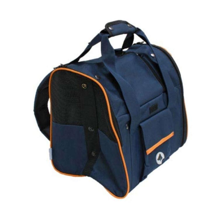 BACKPACK-CAR BAG SCARLETT ORANGE BLUE 38x26x31cm