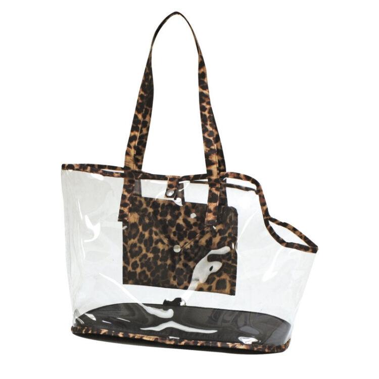 BAG INVISIBLE LEOPARD 41x21x31 cm