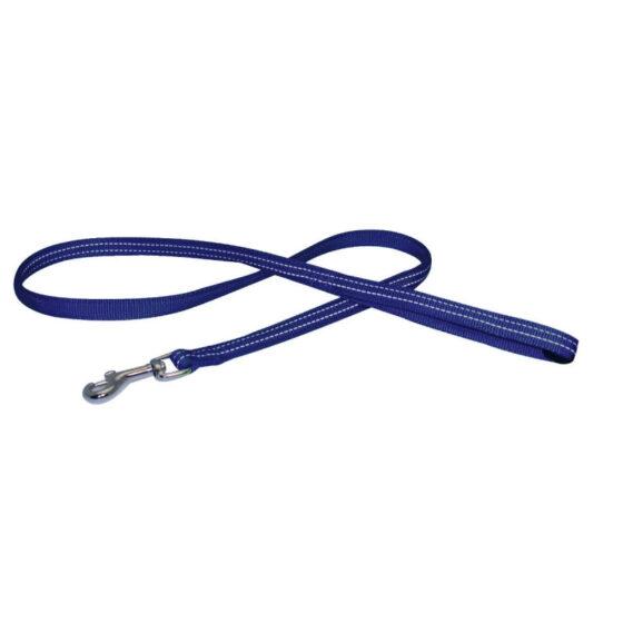 NYLON SOFT REFL.LEASH 20x1200mm BLUE
