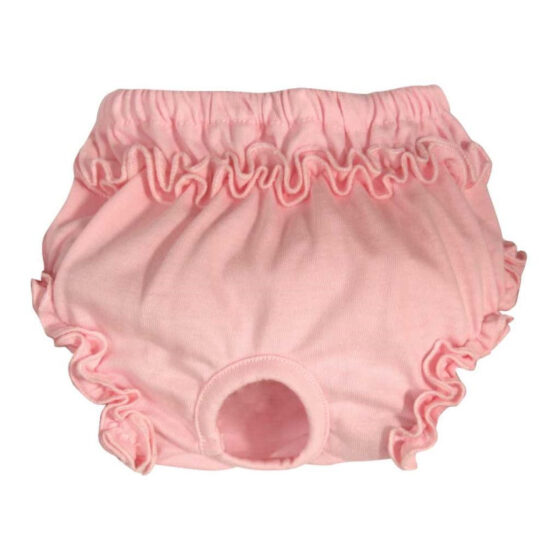 HYGENIC KNICKERS PINK ROUCHES L 35/45cm