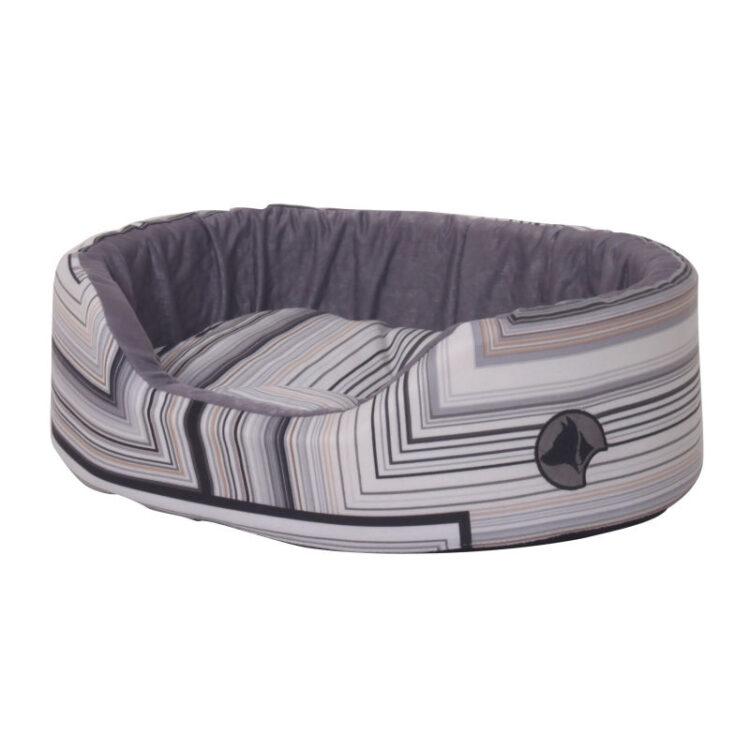 PET BED BLACK STRIPES 58X40X15 cm.