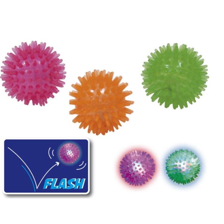 RUBBER BALL FLASHING BALL 5 cm. MIX COL.