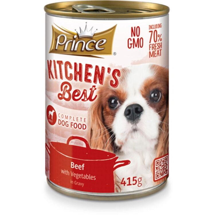 PRINCE KITCHENS DOG 415gr BEEF & VEGETABLES