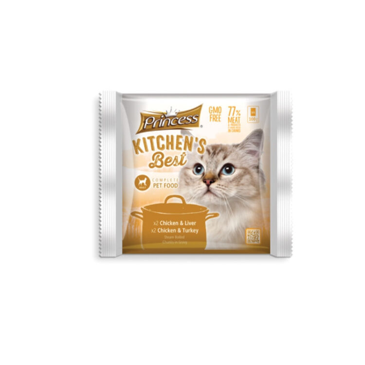 PRINCESS KITCHENS BEST CAT CHICKEN LIVER TURKEY - 4 ΦΑΚΕΛΑΚΙΑ