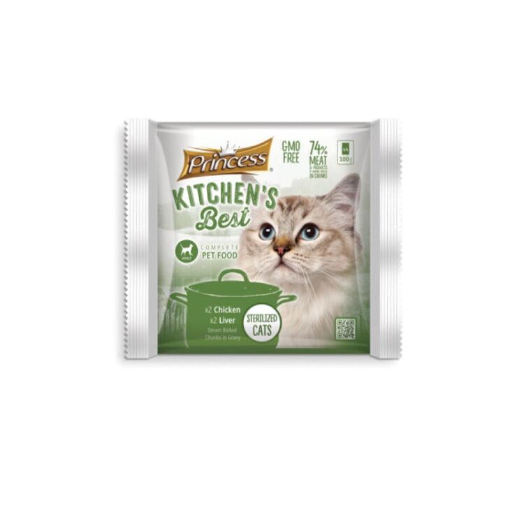 PRINCESS KITCHENS BEST CAT CHICKEN LIVER - 4 ΦΑΚΕΛΑΚΙΑ