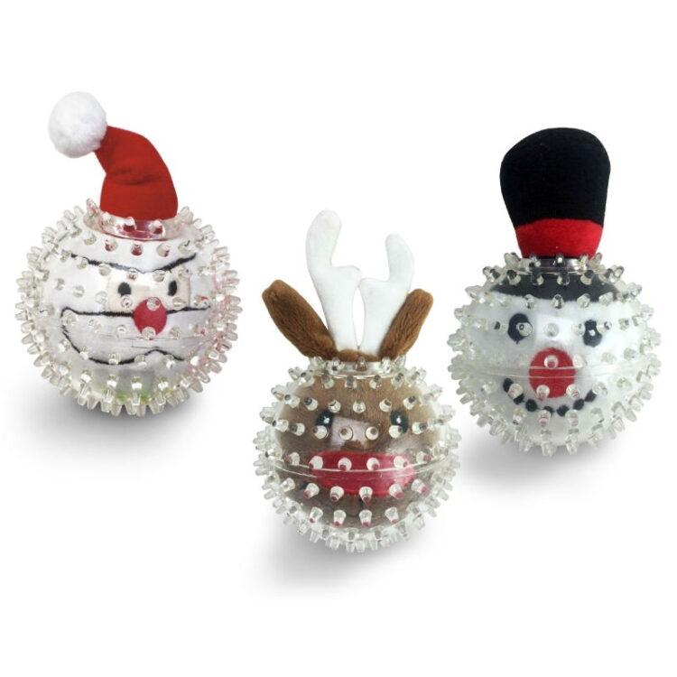 RUBBER BALL CHRISTMAS TOY XMAS BUDDIES SOG. ASS.