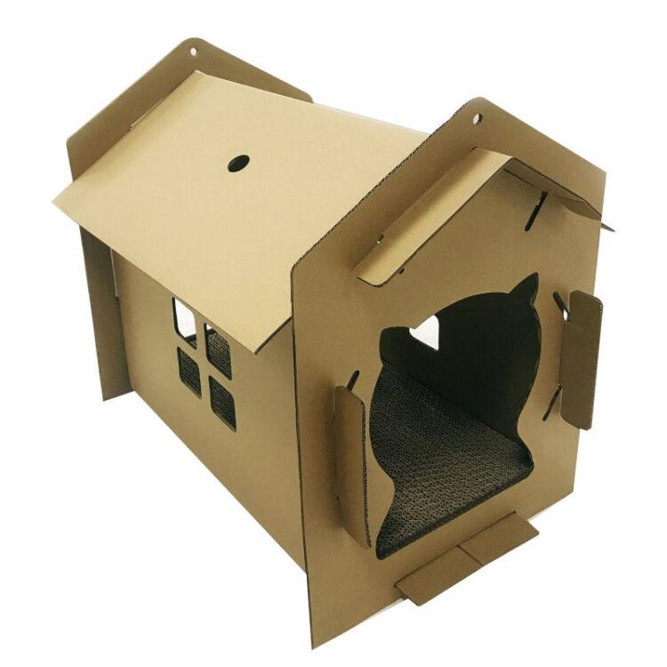 CARTBOARD CAT HOUSE VILLA 42x35x50cm