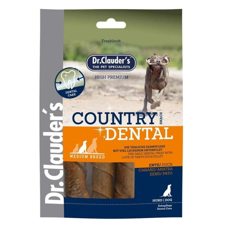 Dr.Cl-Country Dental Snack Duck - med breed 120 g