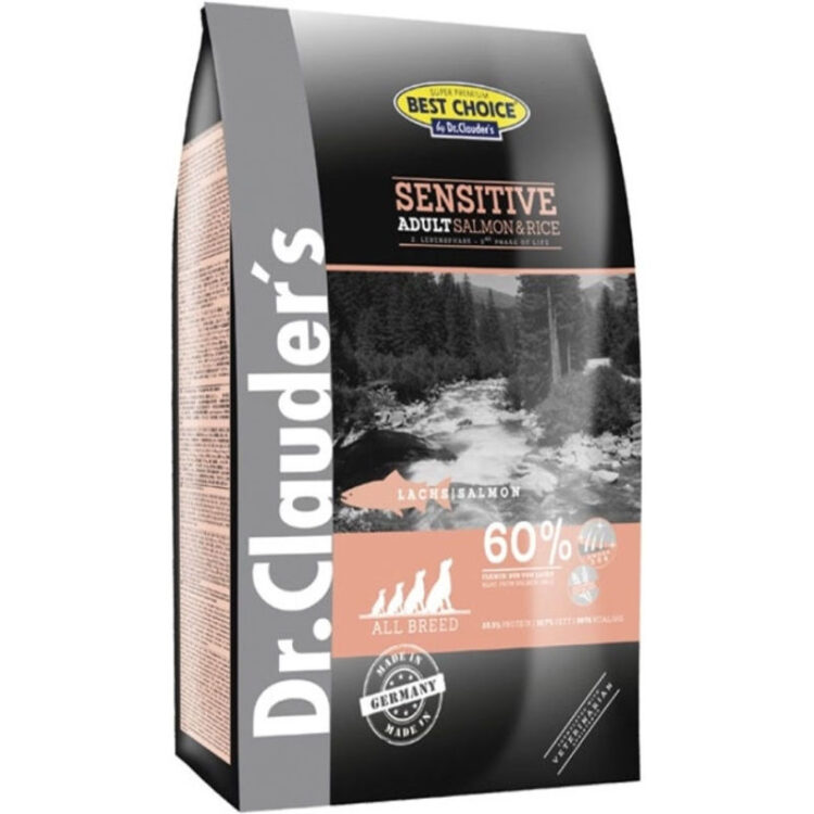 Dr.Cl-BC ADULT Salmon & rice ALL BR. 12,5 kg